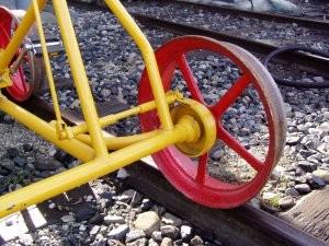 Bici ferroviaria - particolare del freno